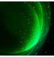 Abstract green light background vector