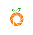 Orange photography logo vector
