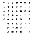 Restaurant and map icons set vector