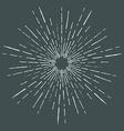Hand drawn vintage bursting rays - design elements vector
