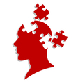 People head with puzzles vector