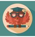 Owl in graduation cap vector