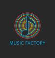 Music colorful logo template design note icon vector