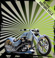 Retro motorcycle background vector