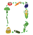 Funny vegetables frame vector