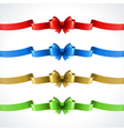 Gift bow and ribbon set vector