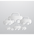 Abstract cars made from paper vector