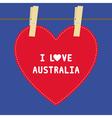I love australia5 vector