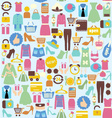 Background with shopping icons vector