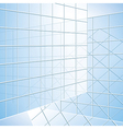 Transparent wall - blue windows vector