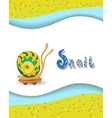 Animal alphabet letter s and snai vector