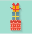 Gifts in style flat vector