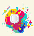 Shield on abstract colorful spotted background vector