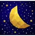 Triangle new moon snow and the stars vector