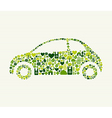 Green car with icons vector