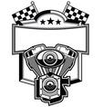 Motorbike club badge vector