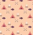 Cute seamless pattern camping vector