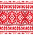 Seamless ukrainian folk red embroidery pattern vector