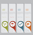Infographic design number banners template graphic vector