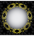 Black card with golden frame in the center vector