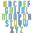Retro style stripe trendy font vector