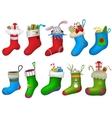 Christmas socks vector