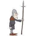 Funny warrior vector