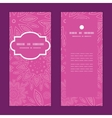 Pink abstract flowers texture vertical frame vector