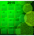 Green calendar for 2015 vector