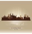 Cambridge england city skyline silhouette vector