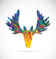 Image of an deer head design vector