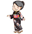 A simple drawing of an asian dress vector