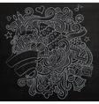 New year sketch chalkboard vector