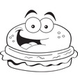 Cartoon hamburger vector