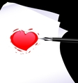 Abstract heart of a writer vector
