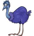 Emu ostrich bird cartoon vector