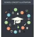 School flat design composition with icons vector