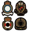 Royal emblem badge shield vector