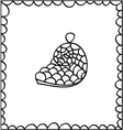 Hand drawn decorative seashell design element vector