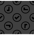 Check mark web icon flat design seamless pattern vector