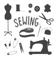 Sewing slip art set vector