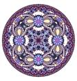 Decorative design of circle dish template round vector