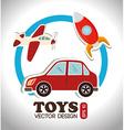 Toys design over white background vector
