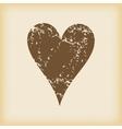 Grungy hearts icon vector