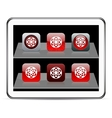 Target red app icons vector