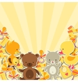 Background invitation card with little animal vector
