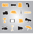 Photographic stickers eps10 vector