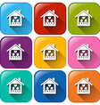 Icons with a home vector