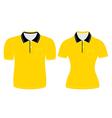 Polo shirt men and woman outline vector
