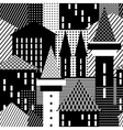 Town seamless pattern vector